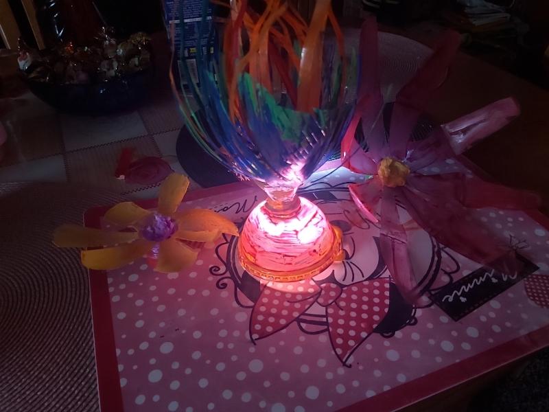 Bartek lampka i kwiatki